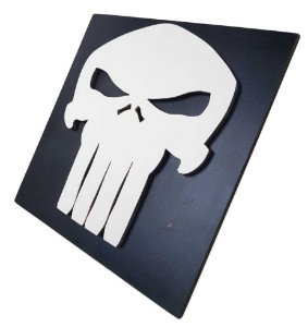 Quadro Decorativo 3D Justiceiro Punisher MDF