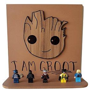 Prateleira Decorativa 3D Groot Guardiões da Galáxia MDF