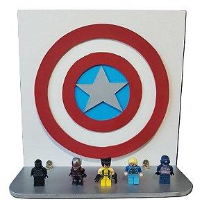 Prateleira Decorativa 3D Capitão América Vingadores MDF