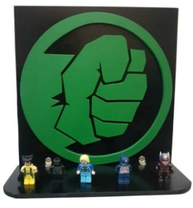 Prateleira Decorativa 3D Incrível Hulk Vingadores MDF