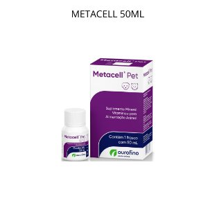 Metacell Pet Suplemento Vitamínico Cães e Gatos 50ml