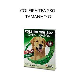 COLEIRA ANTIPULGA E CARRAPATO TEA TAMANHO G 44CM