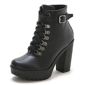 Bota Navit Shoes Tratorada Fivela Preta
