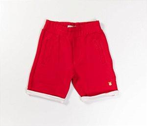 Bermuda de Moleton Infantil Cor Vermelha