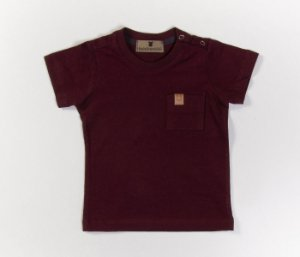 Camisa bebê Gola Careca Malha com cheiro Bordo