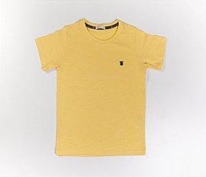 Camisa Infantil Gola Careca Malha Flamê Cor Amarela
