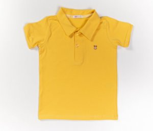 Camisa Gola Polo Infantil Cotton Cor Amarela