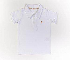 Camisa Gola Polo Infantil Cotton Cor Branca