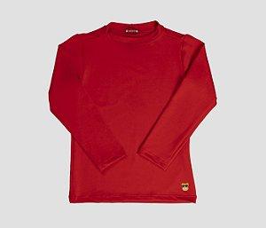 Camisa Infantil Malha Proteção Solar Cor Vermelho