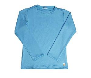 Camisa Infantil Malha Proteção Solar Cor azul