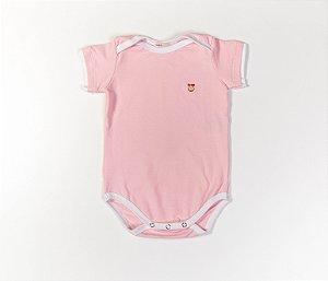 Body bebê Cotton Cor Rosa