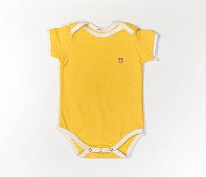 Body bebê Cotton Cor Amarelo