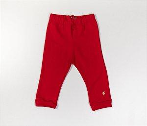 Calça Bebê Moleton Cor vermelho