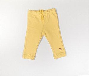 Calça Bebê Moleton Cor Amarelo