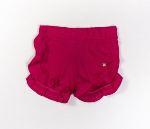 Short babados Infantil Malha Canelada pink