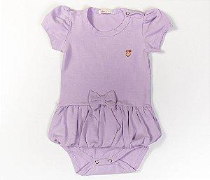 Body bebê Saia Balonê Cotton Cor Lilás