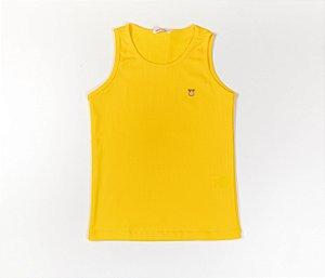 Camiseta Infantil Nadador Malha Canelada Cor Amarelo