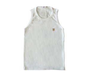 Camiseta Infantil Nadador Malha Canelada Cor Bege