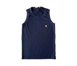 Camiseta Infantil Nadador Malha Canelada Cor Azul Marinho