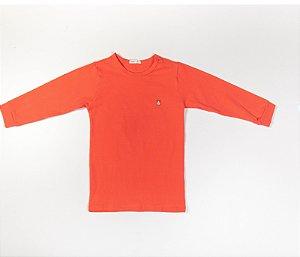 Pijama Infantil Manga longa e Calça Cotton Cor Laranja