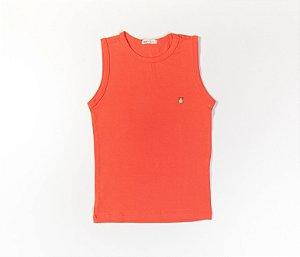 Camiseta Infantil Machão Cotton Cor Laranja