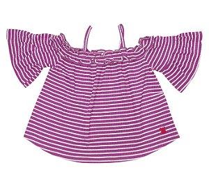 Blusa ciganinha Infantil rosa, muita fofura e estilo para as pequenas.