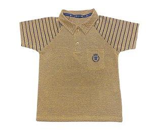 Gola Polo Infantil Raglan Amarela com muito conforto e estilo.