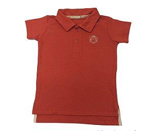 Gola Polo infantil laranja muito conforto e estilo para os pequenos.