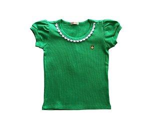 Blusa infantil básica cor verde muito conforto e estilo