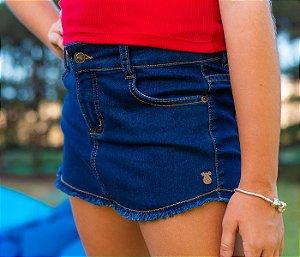 Short Infantil Jeans azul escuro