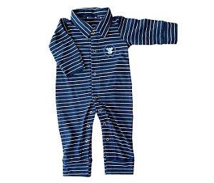 Macacão Bebê Azul Marinho mais conforto e proteção para os pequenos.