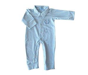 Macacão Bebê Azul claro mais conforto e proteção para os pequenos.