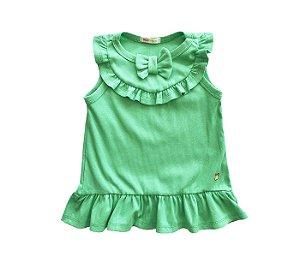 Blusa Infantil básica cheia de estilo verde