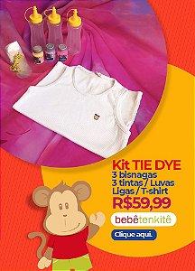 Kit Tie Dye - Camiseta básica + material para o tie dye
