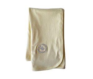 Manta básica amarela mais proteção para os bebês.