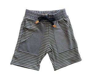 Bermuda infantil, muito conforto e estilo para os pequenos cinza