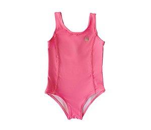 Maiô malha proteção rosa neon