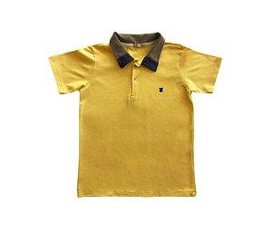 Camisa gola polo amarelo, muito mais estilo e conforto.