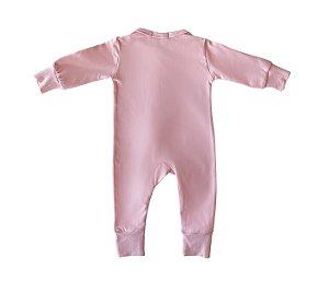Macacão Bebê Básico rosa claro