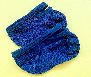 Meia bebê antiderrapante básica azul marinho