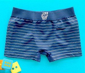 Cueca sem costura infantil básica azul marinho