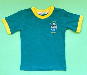Camisa Gola Careca Brasil Verde
