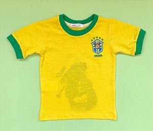 Camisa Gola Careca Brasil Amarela
