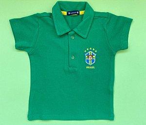 Blusa Gola Polo Brasil Cor Verde