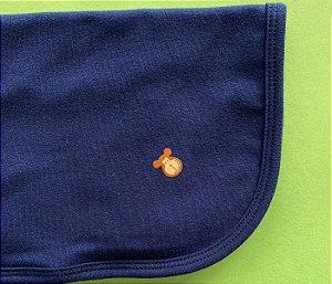 Pano de chupeta cor azul marinho