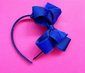 Arco infantil com laço duplo Azul