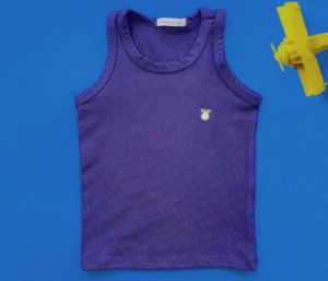 Regata Infantil Básica Cotton Cor Azul Marinho