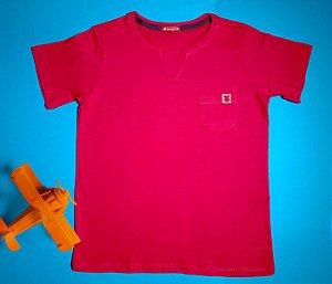 Camisa Gola V Jerky vermelha