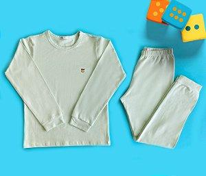 Pijama Infantil Manga longa e Calça Cotton Cor Verde