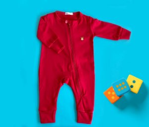 Macacão Bebê Básico Cor Vermelho